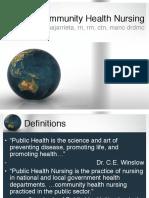 Community Health Nursing Review