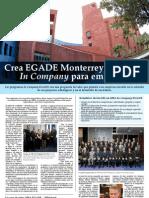 Crea EGADE Monterrey Maestrías InCompany para empresas