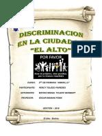 Informe Discriminacion en La Ciudad de El Alto