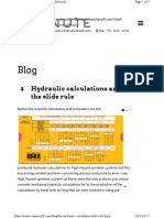 The Hydraulic Calculation Slide