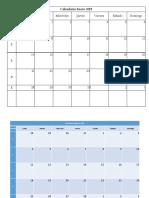 calendario editable 2019
