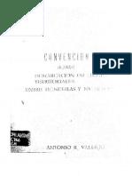 Convencion Sobre La Demarcacion de Limites Territoriales Entre Honduras y Nicaragua Celebrada El 7 de Octubre de 1894