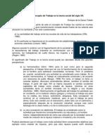 El Papel Del Concepto de Trabajo en La Teoría Social Del Siglo XX.