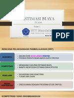 Estimasi Biaya Proyek Mg.1