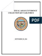 Sexual Assault Evidence Collection Kit Task Force Report 09302016