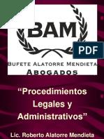 LIC ALATORRE Procedimientos Legales Material