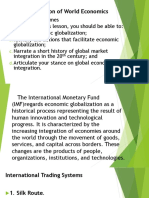 The Globalization of World Economics-contemporary world
