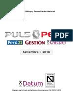 500-0118 - PULSO Setiembre II 2018 - Informe Electoral