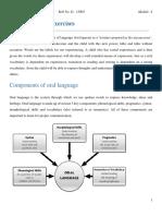 Oral Language Exercises