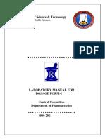 Dosage form manual Pharmacy