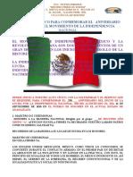 Acto Civico Del Dia de La Independencia y Programa Cultura 2018 ESC. TELESECUNDARIA AMR _ ELENA