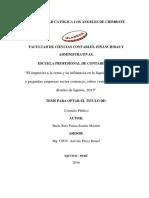 Impuesto a La Renta Liquidez en La Mype Ruiz Paima Sandra Mariela
