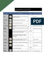 Comandos Básicos de AUTOCAD Y Otras Reglas.