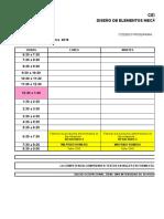 Horarios Grupos II Trimestre 2016