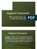 Microsoft Power Point - Negative Exponents [Compatibility M