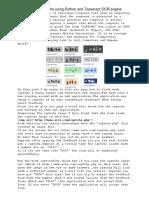 Python Quebrar Captch Python Ocr   Software   Areas Of