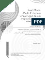 José Martí, Paulo Freire e a construção de um imaginário pedagógico latino americano