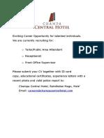 Job Advertisement 092718