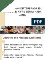 Pencegahan Difteri Pada Ibu Hamil Dan Nifas Presentasi