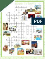 City Crossword Places in Town Crosswords Icebreakers Oneonone Activities 103483