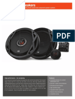 JBL Club Speaker SpecSheet English
