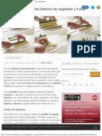 Cortes - Hablemos Sobre Cortes Básicos en Fruta y Verdura - Directo Al Paladar