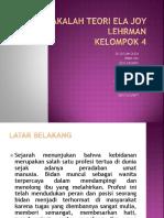 MAKALAH TEORI ELA JOY LEHRMAN.pptx
