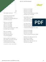 DON'T CRY - Guns N' Roses (Impresión)