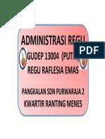 Cover Administrasi Regu