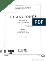 C. Guastavino - 3 Canciones Sobre Poesía de Luis Cernuda