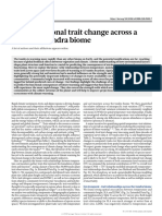 Plant Functional Trait Change Across A