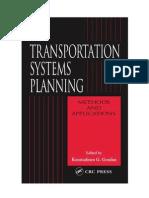 Transportation Systems Planning-Methods Applications