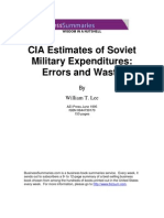 CIA Estimates of Soviet Military Expenditures Errors and Waste