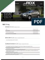 2010 Acura RDX Fact Sheet Herb Connolly MA