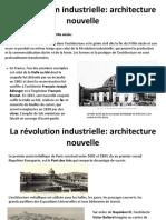 La Revolution Industrielle Et Ses Constructions