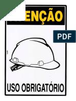 Placa utilizar capacete