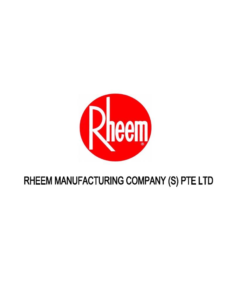 Rheem Company Profile and Project Ref pdf | Calentamiento de