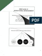 Mantrikulasi Pert-1 Manajemen Operasional
