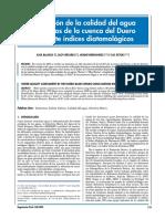 Blanco, S., Bécares, E., Hernández, N., & Ector, L.. Evaluación de la calidad del agua en los ríos de la cuenca del Duero mediante índices diatomológicos. Publicaciones técni.pdf