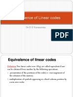 Equivalence of LineraCodes