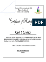 Certificate of Paticipation RTOT RPMS Template