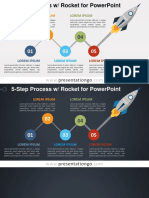 2 0180 5 Step Process Rocket Diagram PGo 16 9