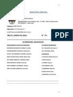 BOLETIN OFICIAL N° 74-ENERO 2018 -