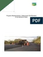 Proyecto - Pmbok Mantenimiento de Via