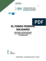 Eliminación del Fondo Federal Solidario - Impacto en las provincias de Santa Fe y Entre Ríos