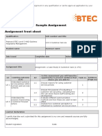 Pearson BTEC Level 5 HND Diploma in Hospitality Sample Assignment