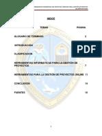 Estudio y Analisis de Las Herramientas Informaticas Para La Gestion de Projectos
