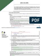 Consultar Python Otros Libro de Estilo