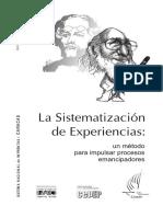 Libro Sistematización de Experiencias MIPE Cepep