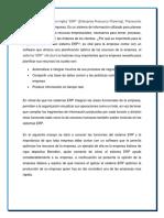 Ensayo del sistema ERP